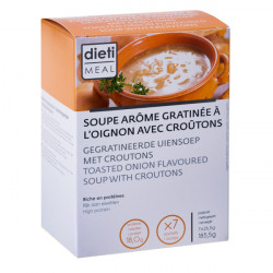 High Protein Toasted Onion Soup with Croutons